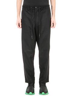 Y-3-Pantalone track in lana nera