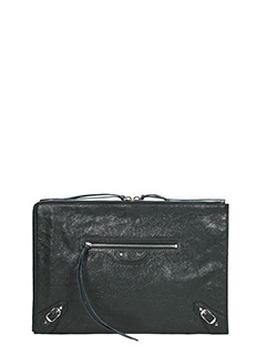 Balenciaga-Clutch Classic Pouch Metallic grey Edge