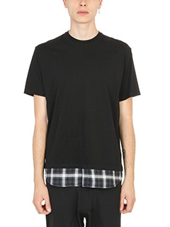 Neil Barrett-T-Shirt Camicia in cotone nero