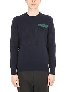 Kenzo-Crest Wool Blue Sweater