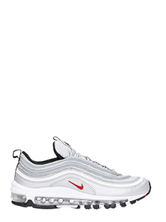 Nike-Air Max 97 silver leather sneakers