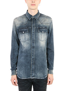 Pierre Balmain-Camicia in denim blu
