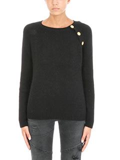 Pierre Balmain-ribbed button sweater