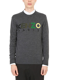 Kenzo-Intarsia Kenzo Knitted grey sweater