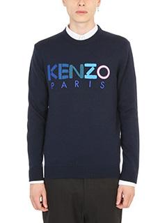Kenzo-Intarsia Kenzo Knitted blue sweater