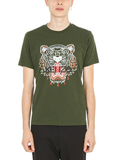 Kenzo-T-shirt Tiger in cotone dark khaki