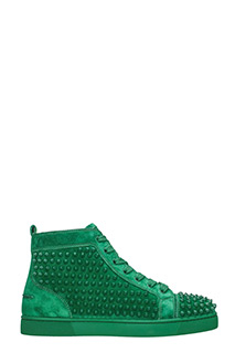 Christian Louboutin-Sneakers Louis Flats velours verde