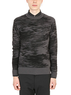 Jil Sander-Grey and black pullover