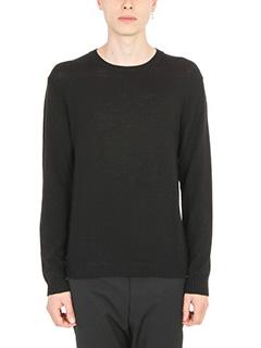 Jil Sander-Rib-knit black pullover