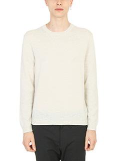 Jil Sander-Rib-knit beige pullover