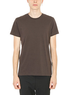 Jil Sander-T-shirt in cotone marrone