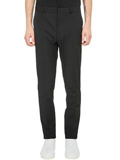 Jil Sander-Pantalone in cotone nero