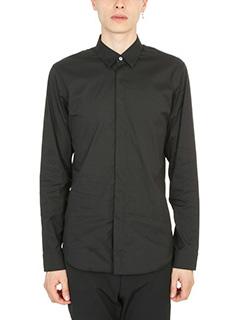 Jil Sander-camicia in cotone nero