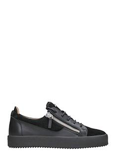 Giuseppe Zanotti-Sneakers Nicki in suede e pelle nera