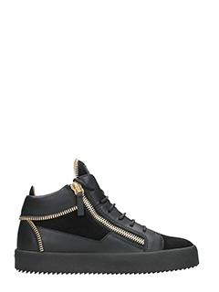 Giuseppe Zanotti-Sneakers Kriss mid Top in pelle nera