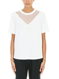 Chloé-Lace trimmed T-shirt