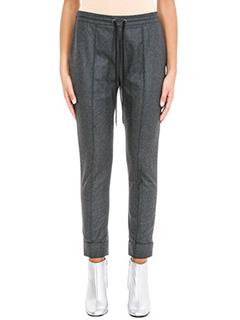 Kenzo-Pantaloni in lana grigia