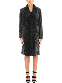 Drome-Double-faced astrakhan fur coat