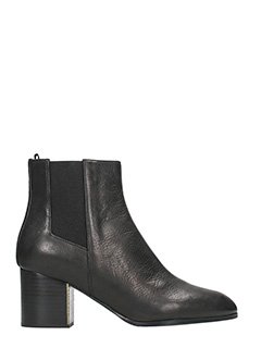 Jil Sander Navy-Black leather ankle boots