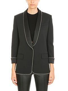 Alexander Wang-Tuxedo ball chain trimmed suit jacket