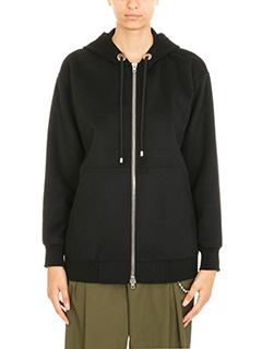 Alexander Wang-Felpa Oversized Zip up in lana nera