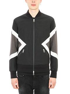 Neil Barrett-Graphic Black/Grey bomber jacket