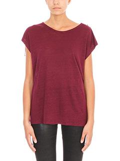 Iro-Amery shoulder tie T-shirt