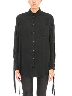 Iro-Camicia Cobi in cupro e lana nera