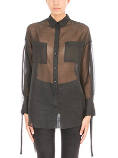 Iro-Camicia Gena in cotone e cashmere nero