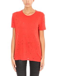 Iro-Clay red linen