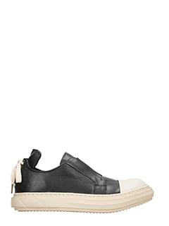 D.Gnak-Sneakers Slip on in pelle nera