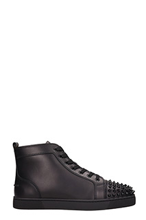 Christian Louboutin-Sneakers alte Lou Spikes in pelle nera