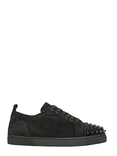 Christian Louboutin-Sneakers Louis Junior in suede nera