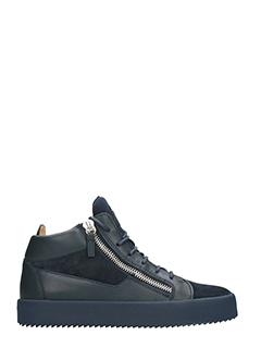 Giuseppe Zanotti-Sneakers Keith Mid Top in pelle e camoscio nera