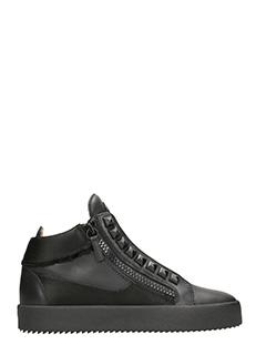 Giuseppe Zanotti-Sneakers Barrett in pelle nera