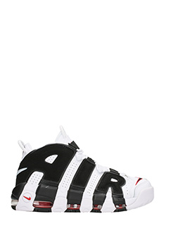 Nike-Sneakers Air More Uptempo in pelle bianca nera