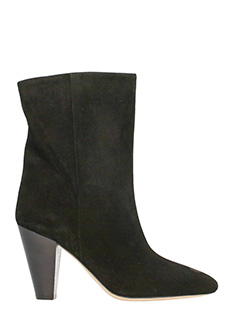 Isabel Marant-Tronchetti Darilay in suede nero