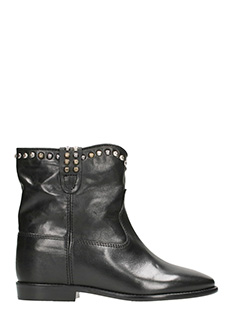 Isabel Marant-Tronchetti Cluster Wedge in pelle nera