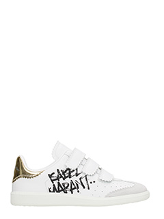 Isabel Marant-Sneakers Bryce in pelle e camoscio bianco