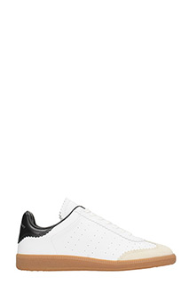 Isabel Marant-Sneakers Bryce in pelle e suede bianco nero