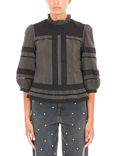 Isabel Marant Etoile-Ritz  two tone cotton blouse