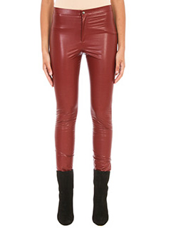 Isabel Marant Etoile-Jeffery  bordeaux faux leather trousers