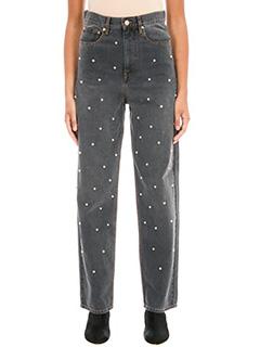 Isabel Marant Etoile-Jeans Curt Oversize in denim grigio