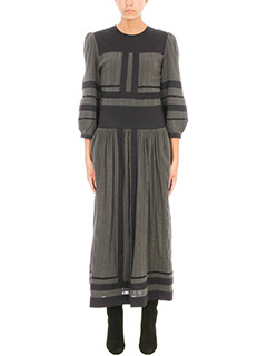 Isabel Marant Etoile-Roomi Two tone cotton gauze maxi dress