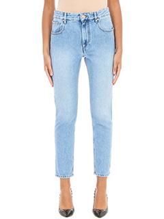 Isabel Marant Etoile-Jeans Slim Fit in denim azzurro