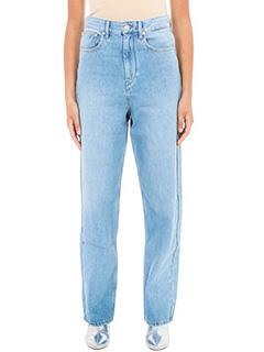 Isabel Marant Etoile-Jeans Boyfriend Corby in denim azzurro