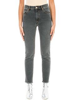 Isabel Marant Etoile-Jeans Clovera in denim grigio