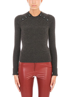 Isabel Marant Etoile-Koyle button shoulder knit sweater