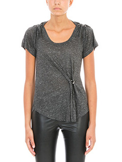 Isabel Marant Etoile-T-Shirt Remy in cotone antracite
