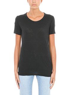 Isabel Marant Etoile-T-Shirt Kiliann in lino nero
